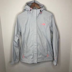 North Face hyvent wind breaker - coral/gray large